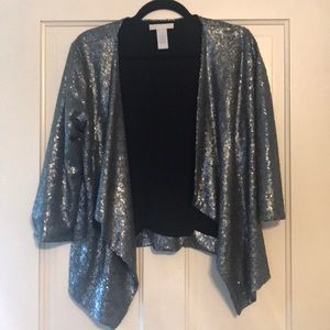 Design History Silver Sequined Blazer